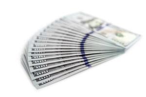 grande pilha de dinheiro foto