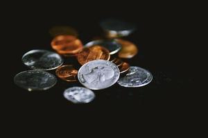 dinheiro - moedas dos eua