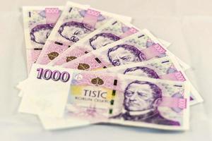 dinheiro checo 1000 foto