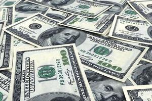fundo de dinheiro de dólares foto