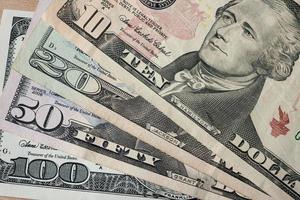 fundo de dinheiro dólares americanos foto