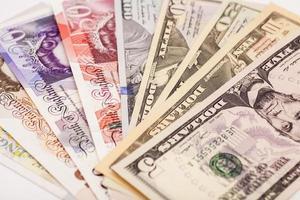 moedas internacionais foto