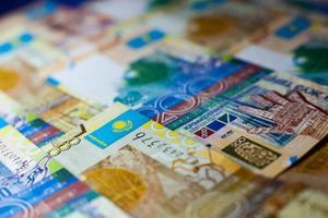 tenge, papel-moeda cazaque foto