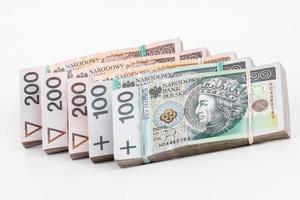 pilha de dinheiro polonês