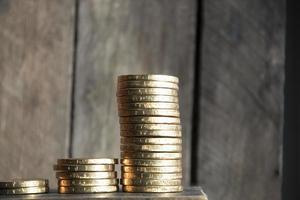 gráfico de moedas foto