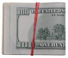 dólares em fundo branco