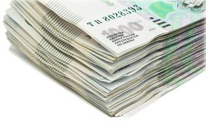 pacote de dinheiro. fragmento foto