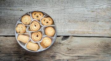 arco de biscoitos de manteiga