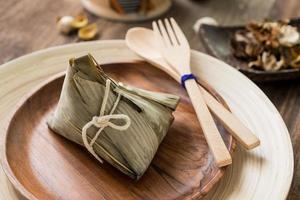 bolinho de arroz com zongzi ou arroz com chá