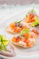 ceviche de salmão foto