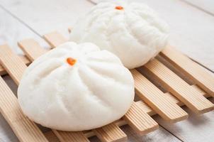 pãezinhos de porco para churrasco no vapor, pão chinês