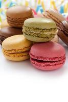 macarons franceses coloridos foto
