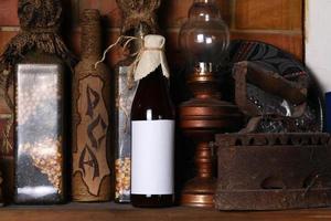 garrafa de cerveja artesanal foto