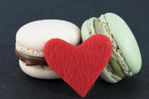 coração macaron foto