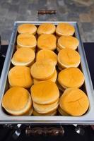 pães de hambúrguer de recepção de casamento foto
