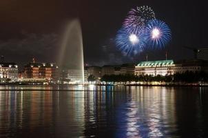 fogos de artifício de hamburgo foto