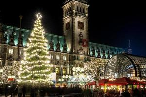 hamburgo weihnachtsmarkt, alemanha foto