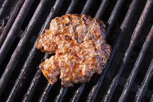 carne de hambúrguer foto