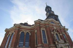 Hamburgo michel st. michaelis kirche foto
