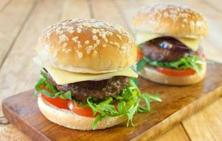 hambúrgueres gourmet foto