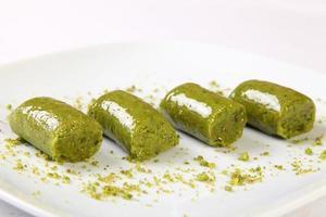 sobremesa turca de pistache foto