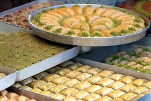 delicioso baklava turco foto