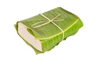 tofu no pacote de tradição foto
