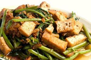 delicioso vegetariano chinês com coalhada de feijão foto