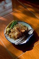 macarrão frito tailandês ou pad tailandês foto