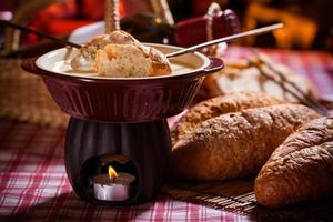 fondue de queijo foto