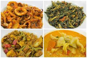 colagem de comida do sudeste asiático nyonya peranakan foto