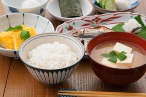 café da manhã japonês foto