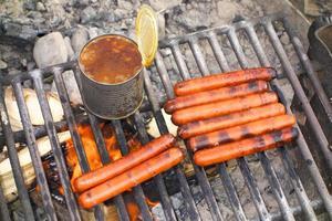 refeição de acampamento foto