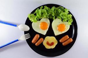 café da manhã feliz foto
