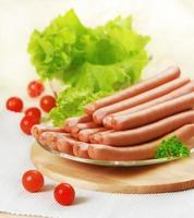 salsichas frescas foto
