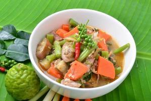 comida tailandesa - caril de porco
