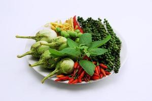 ingrediente para curry frito picante tailandês 003 foto
