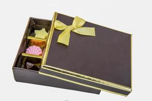 caixa de presente de chocolate foto