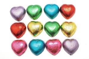 forma de coração de chocolate foto