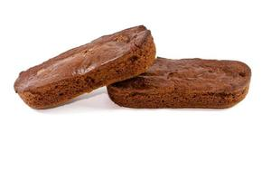 bolo de chocolate cozido fresco foto