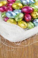 ovos de chocolate foto