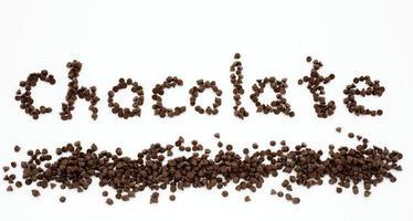 palavra chocolate foto