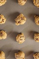 massa de biscoito de chocolate caseiro foto