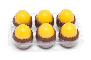 ovos de chocolate da páscoa foto