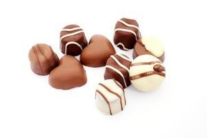 trufas de chocolate foto