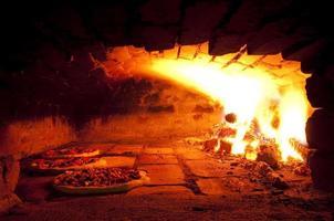 forno de pizza foto