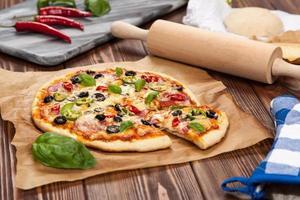 deliciosa pizza caseira
