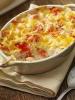 macarrão com queijo e lagosta assada foto