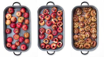 maçãs assadas foto