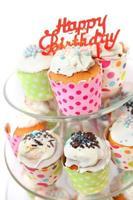 cupcakes assados frescos foto